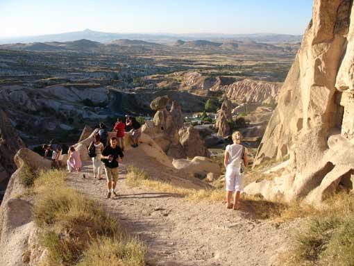 Panorama widoczna z Zamku Uchisar.