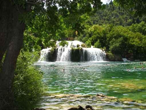 Wodospady rzeki Krk.