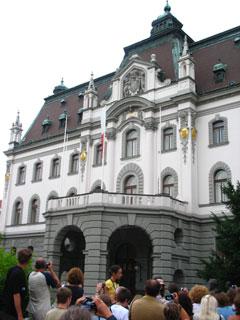 Ljubljana - balkon uniwersytetu.