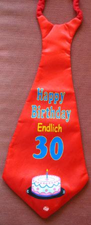 Krawat na 30 urodziny.